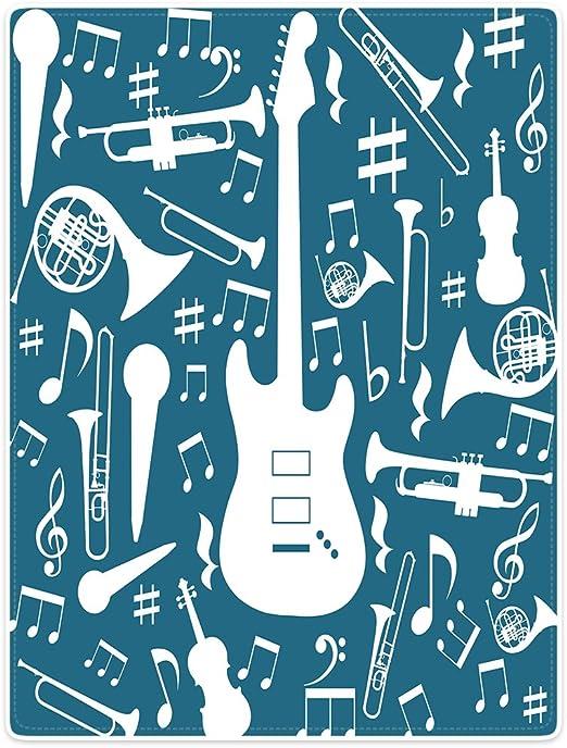 Mantas sofá cama manta suave y cálida instrumentos musicales ...
