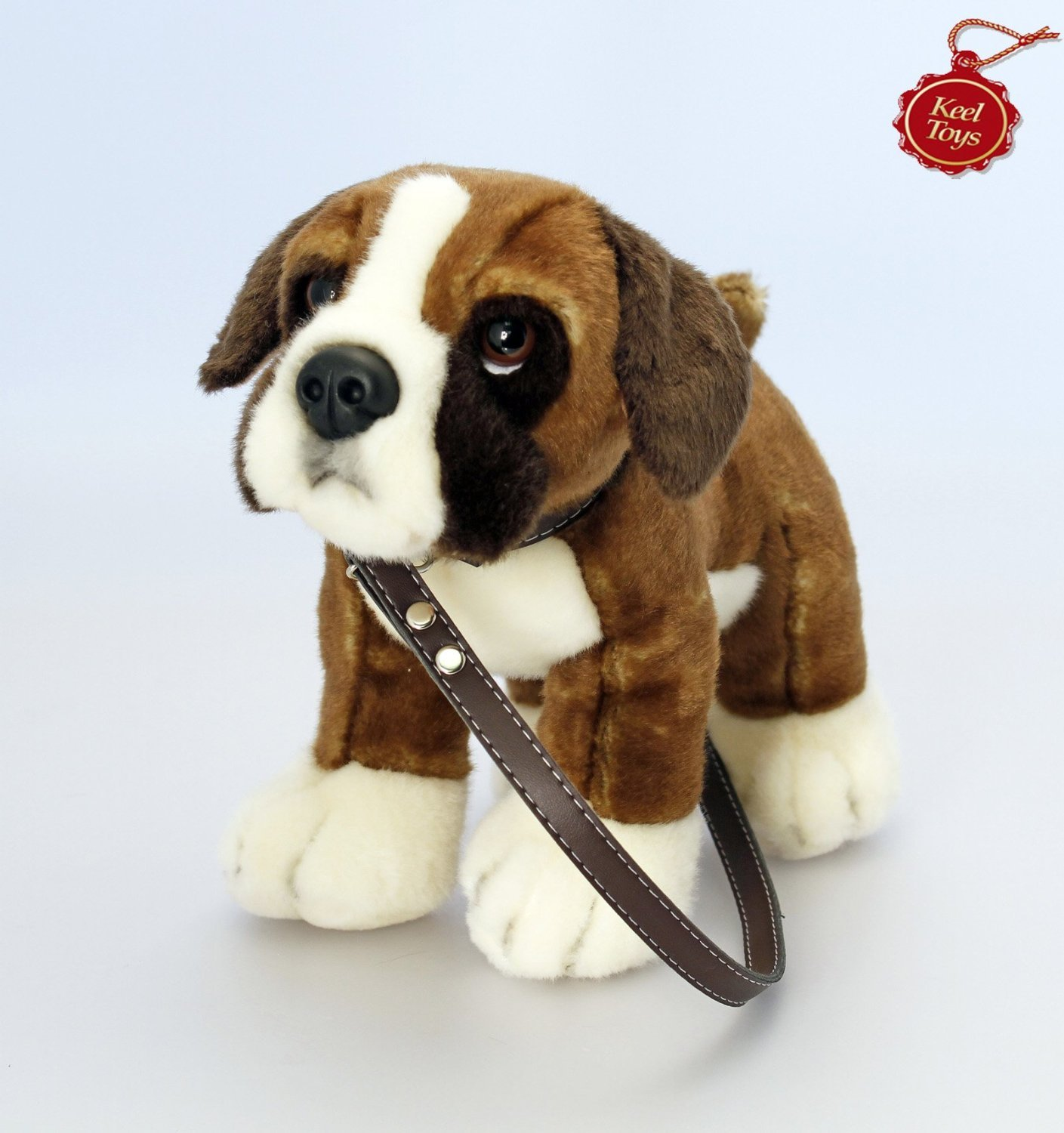 Keel Toys Cuddly Plush labrador on the lead Dog Amazon