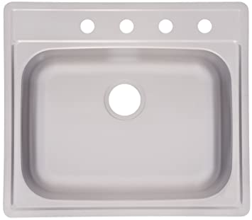 Kindred fss804nb single bowl stainless steel 25 x 22 in topmount kindred fss804nb single bowl stainless steel 25quot x 22quot in topmount sink workwithnaturefo