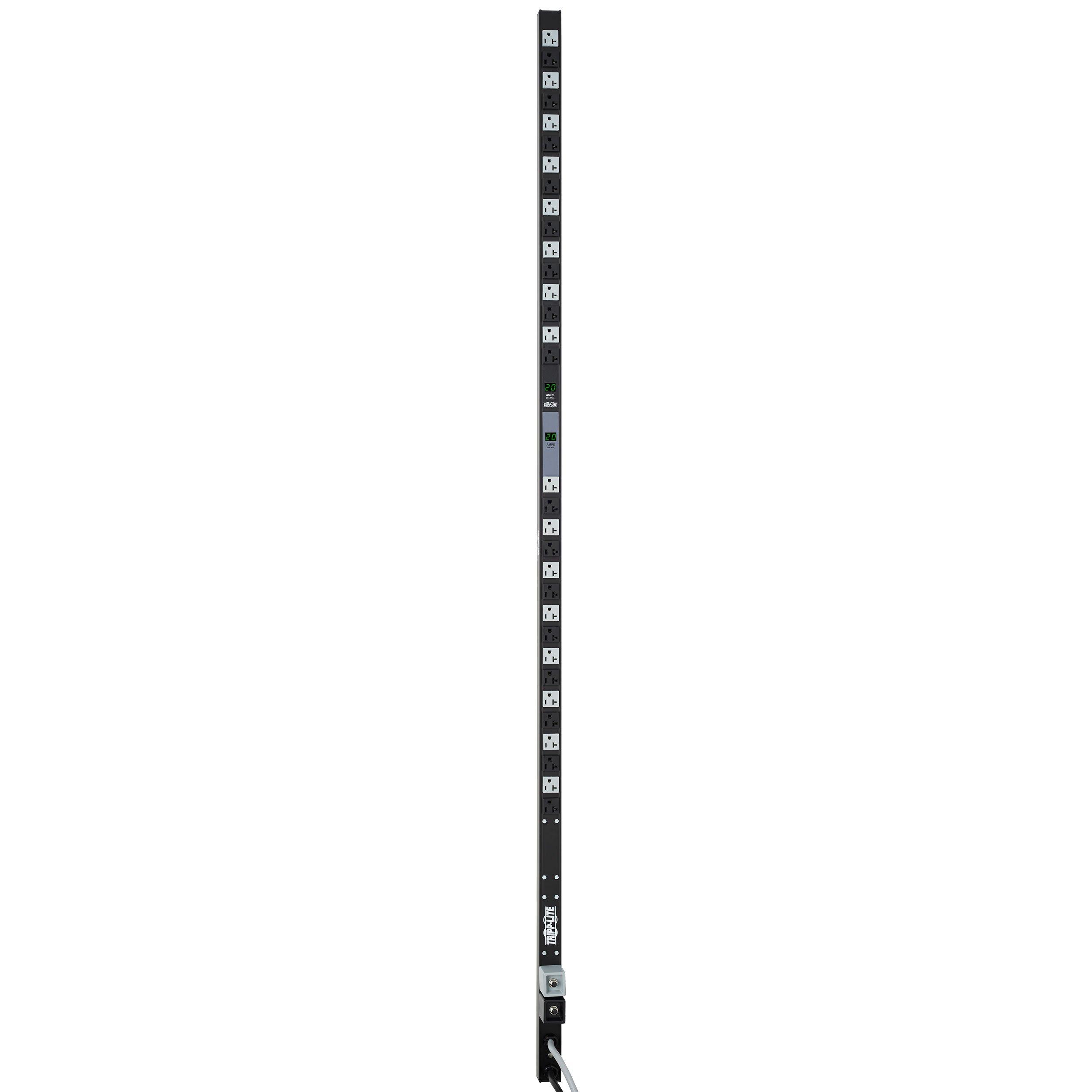 Tripp Lite Metered PDU, 20A Dual Circuit, 32 Outlets (5-15/20R), 120V, L5-20P/5-20P, 10 ft. Cord, 0U Vertical Rack-Mount Power (PDUMV40)