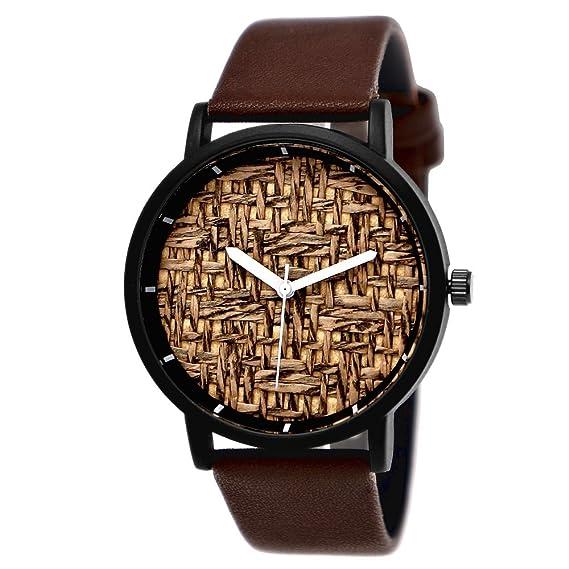Elegante Pure Time® – Reloj de mujer hombre de reloj Eco Piel Natural Pulsera de