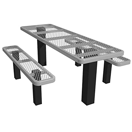 Amazoncom Ada Rectangular Picnic Table Expanded Metal - 96 picnic table