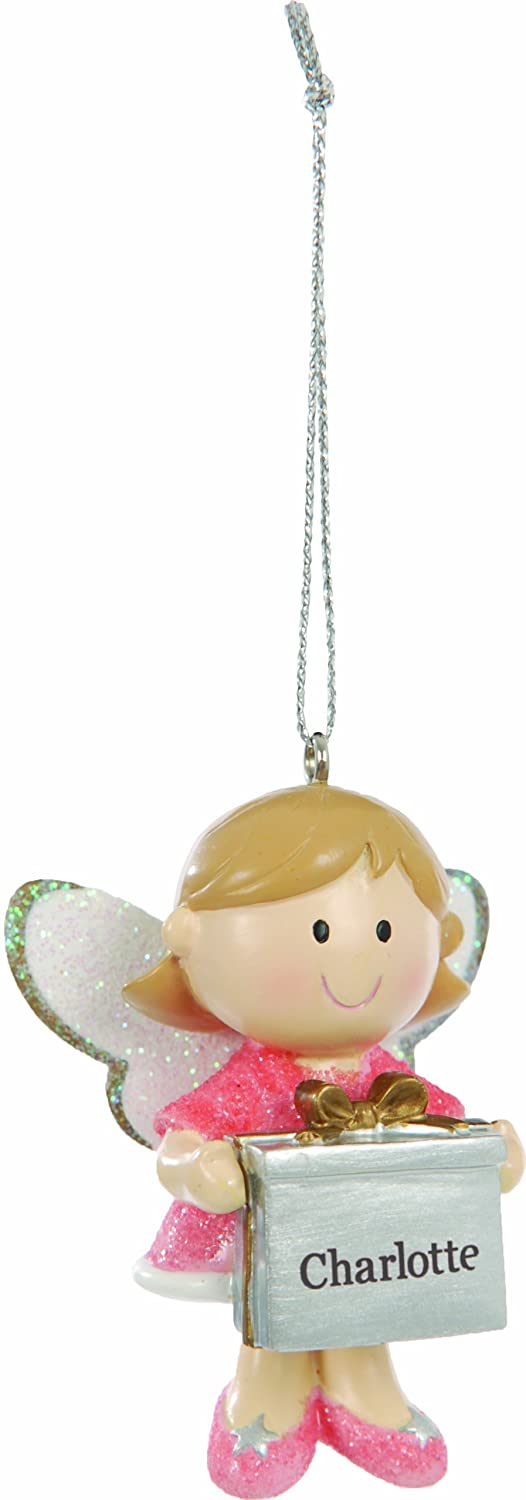 cute fairy christmas tree decoration ornament bauble with name evie amazoncouk kitchen home - Christmas Tree Decorations Names