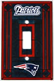 New England Patriots NFL Art-Glass Switch Plate