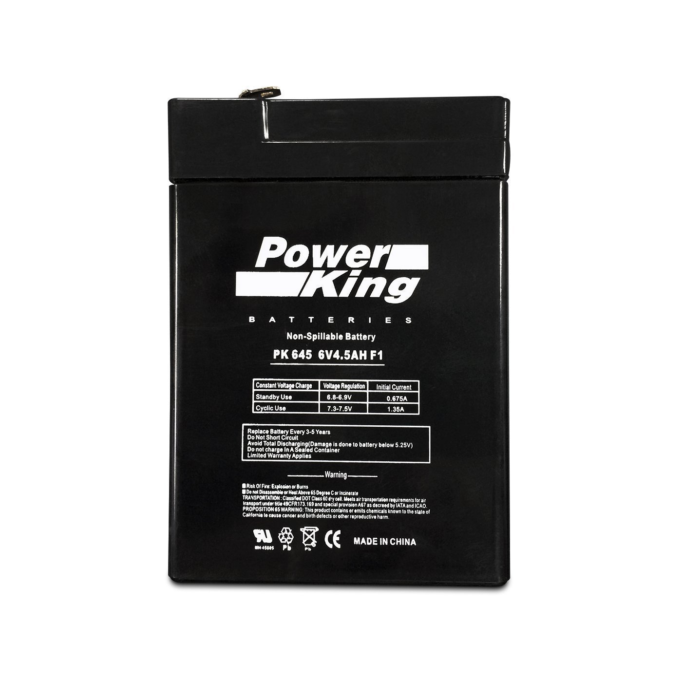 Jiming JM-6M4.5AC 6V 5Ah Rechargeable Sealed Lead Acid Battery Beiter DC Power