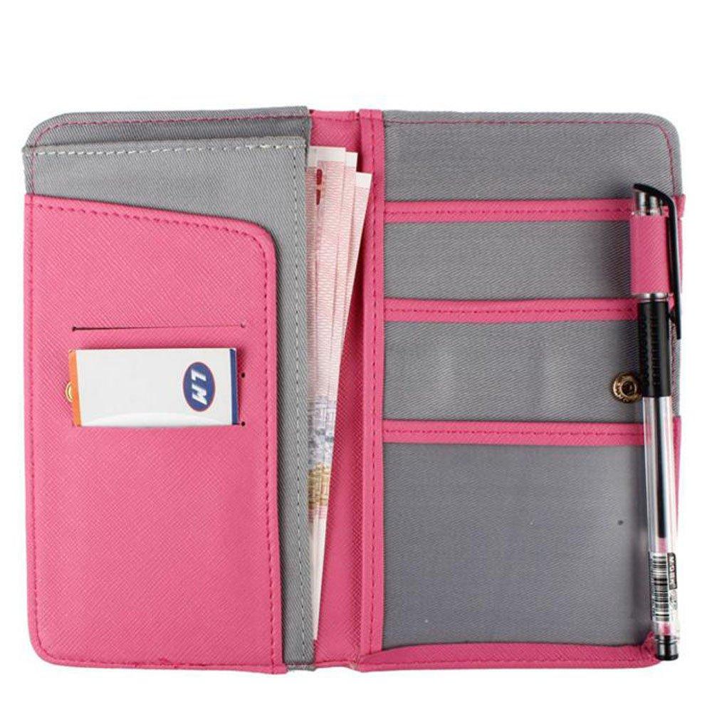 Porta documentos viaje de lona ( varios colores)