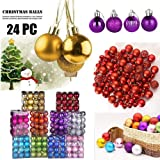 IGETELY 24Pcs Christmas Balls Ornaments for Xmas Christmas Tree - 3 Style Christmas Tree Decorations Hanging Ball for…