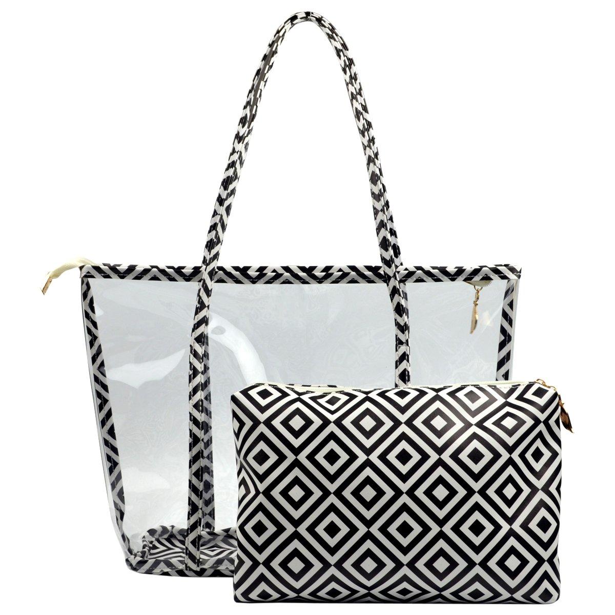Clear Purse PVC Transparent Bag Work Handbags for Women Girls