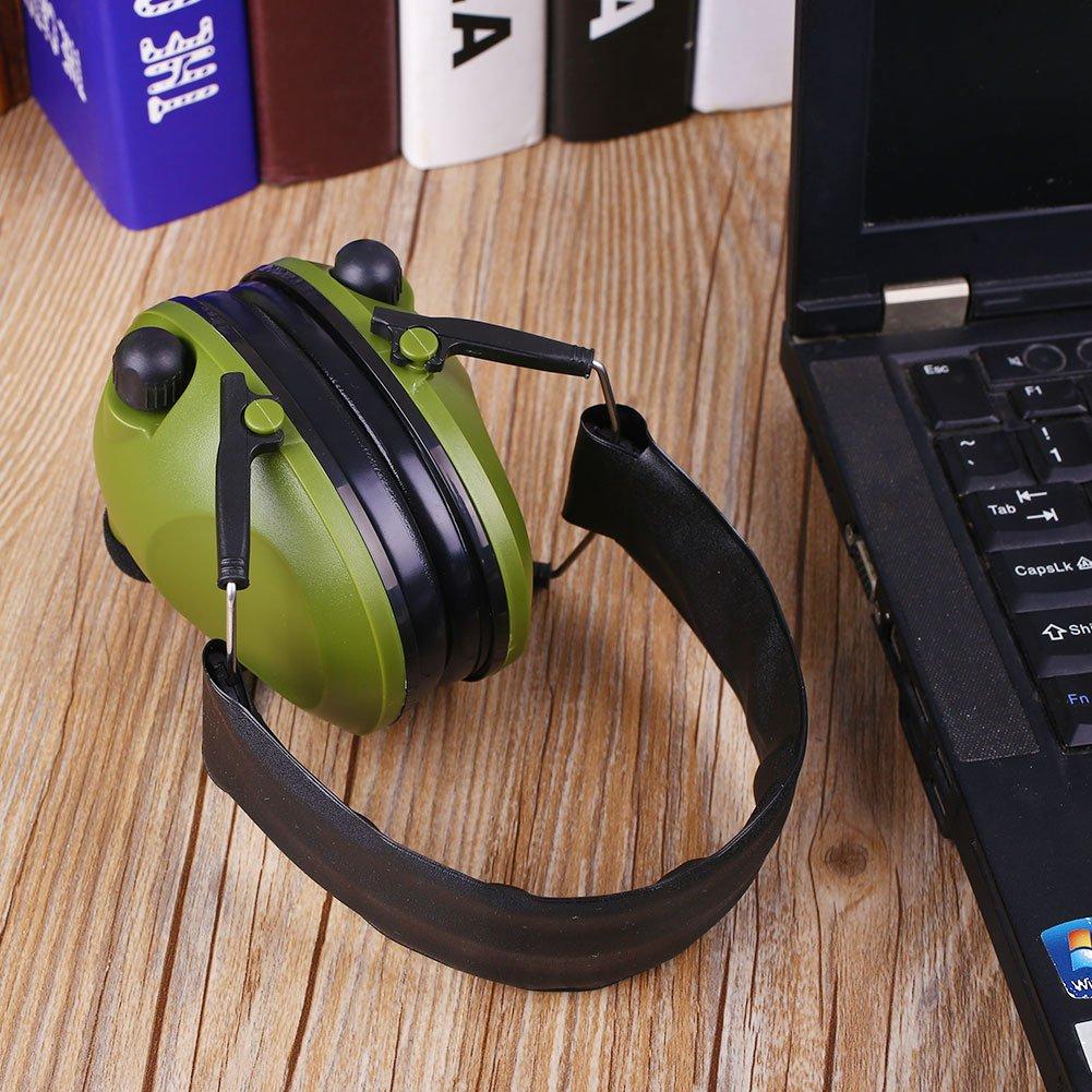 Cewaal Táctica orejeras anti-ruido electrónico Orejeras Fold para la protección auditiva del oído disparos cazador de Protección