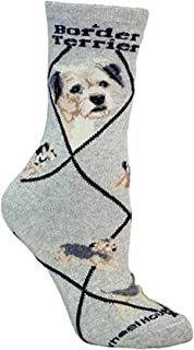 product image for Border Terrier Dog Gray Large Cotton Socks