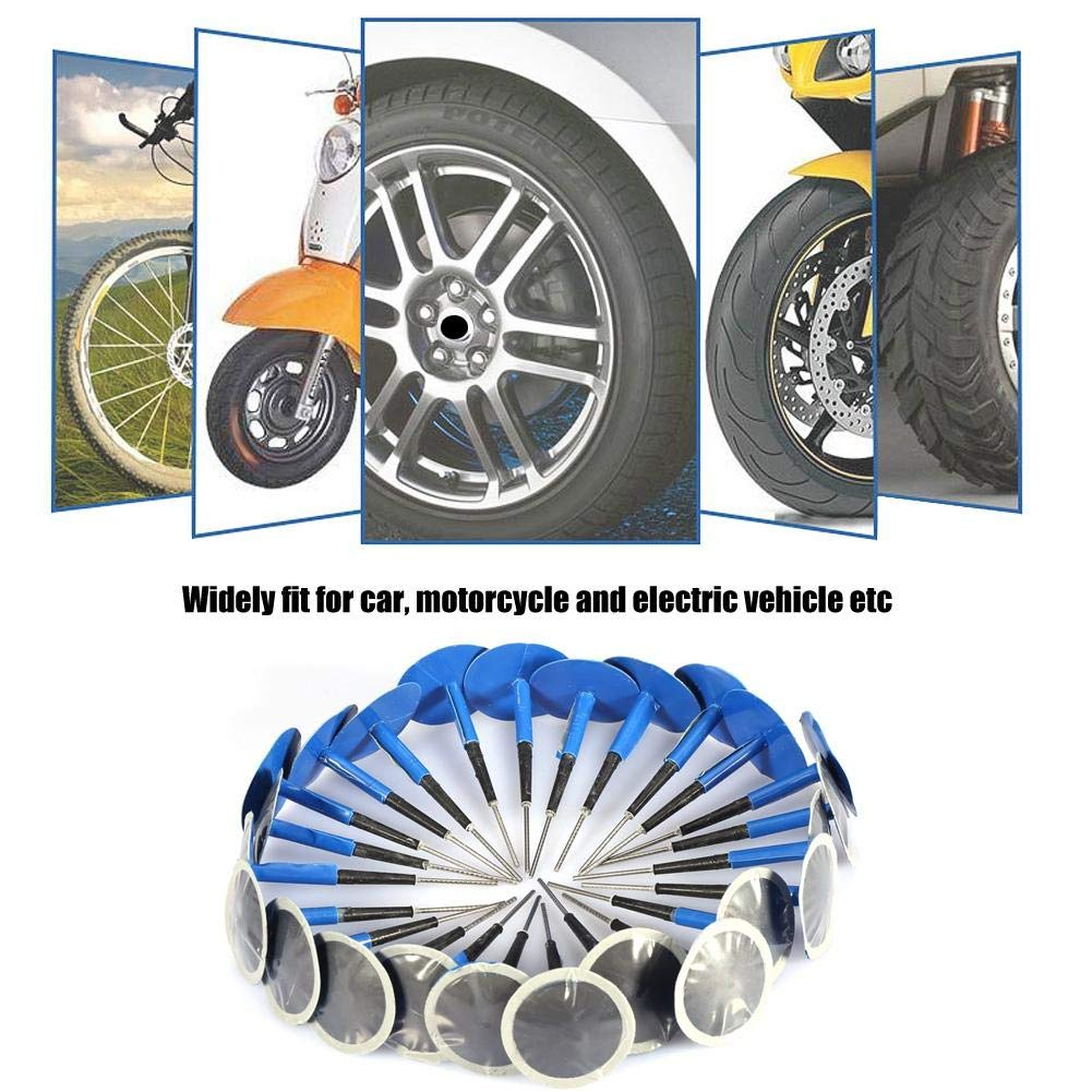 36 * 4mm Electric Vehicle Aramox Tire Patch 24 PCS Universal Tubeless Tire Puncture Repair Mushroom Plug Patch Gum for Car Motorcycle