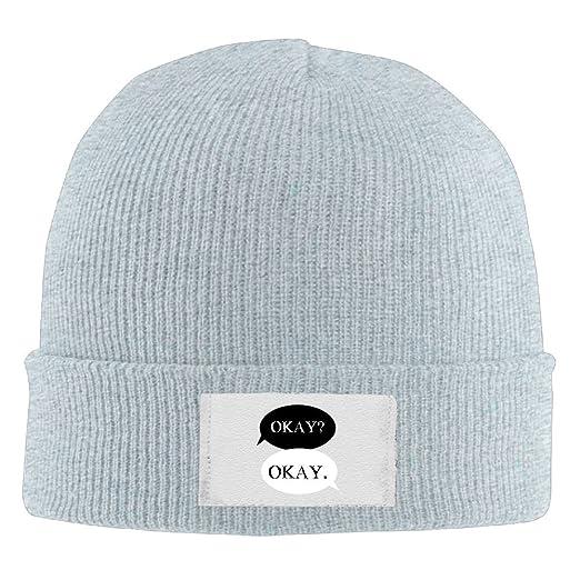 84231f948 Amazon.com: Maurmb Adult Hats Okay Okay Men Women Wool Cap Cool ...