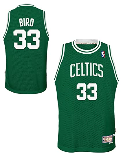 67c489a87 Image Unavailable. Image not available for. Color  Genuine Stuff Larry Bird Boston  Celtics NBA Youth Throwback Swingman Jersey - Green