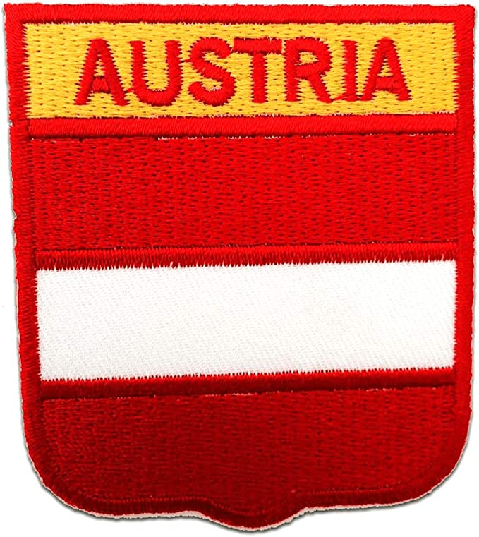 Application badges white Iron on patches 5,3x7,5cm Wales flag banner