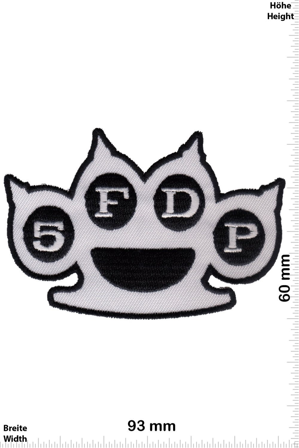 5fdp Patches Metalband Finger Knuckleduster Punch Five Death zOOBWA6