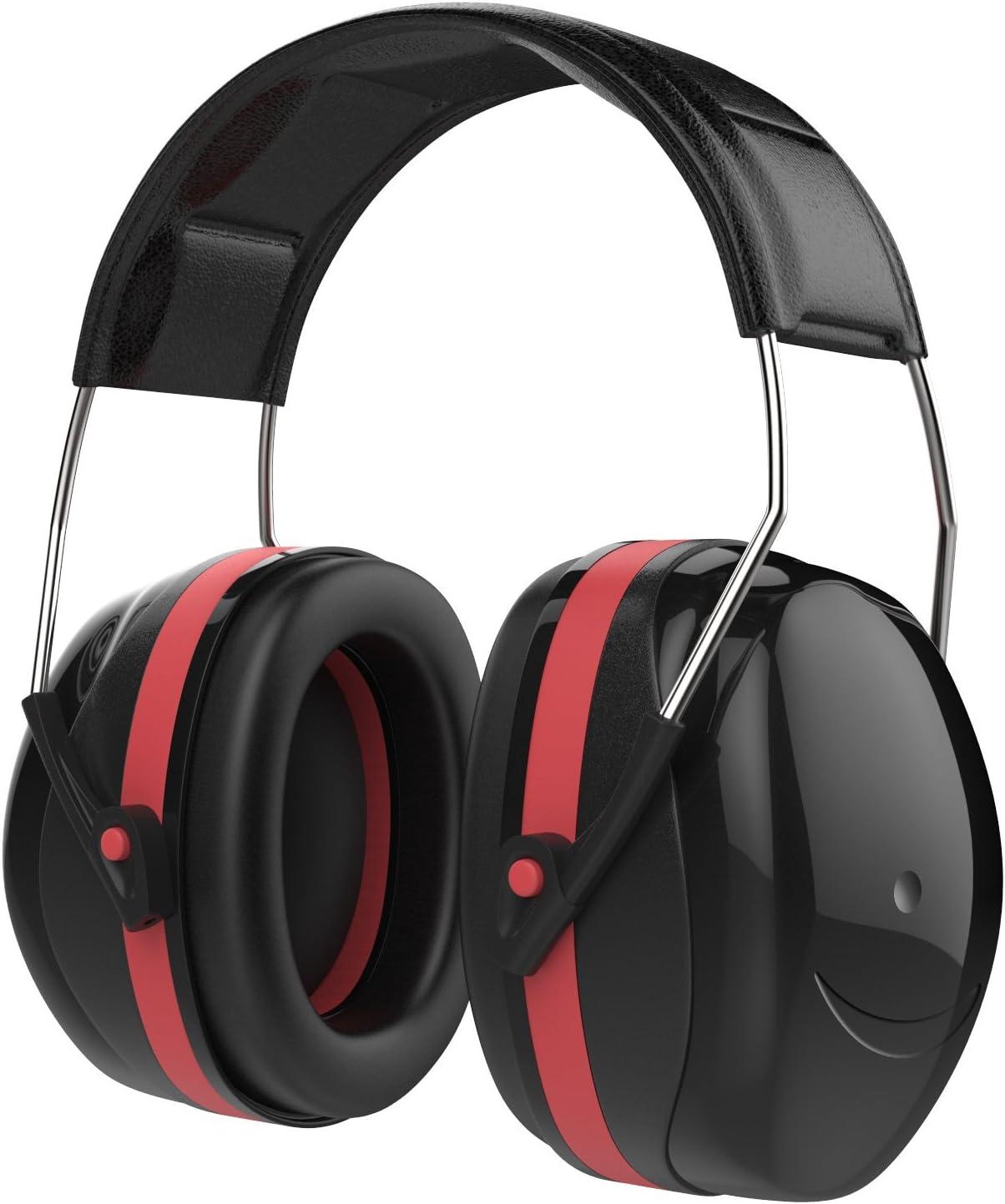 Schwarz Rot Professional SNR 35dB Noise Reduction Geh/örschutz Geh/örschutz f/ür Jagd Baustelle MoKo Noise Cancelling Kapselgeh/örsch/ützer