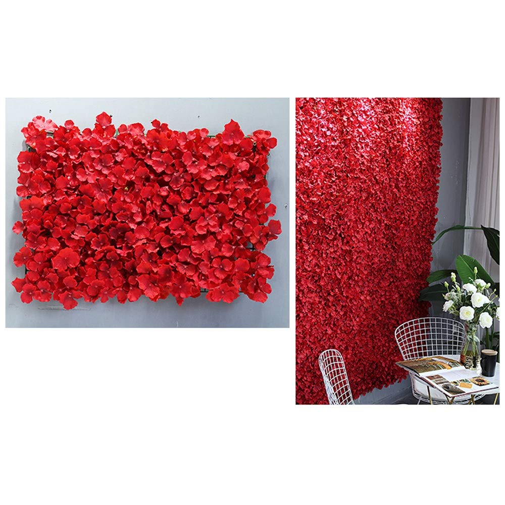 YI GAO Background Wall - Flower Wall Background Wall Web Red Wall Decoration Enamel Flower Fake Flower Wedding Interior Layout Photo Studio Photography Wall Decoration @ (Color : 1) by YI GAO