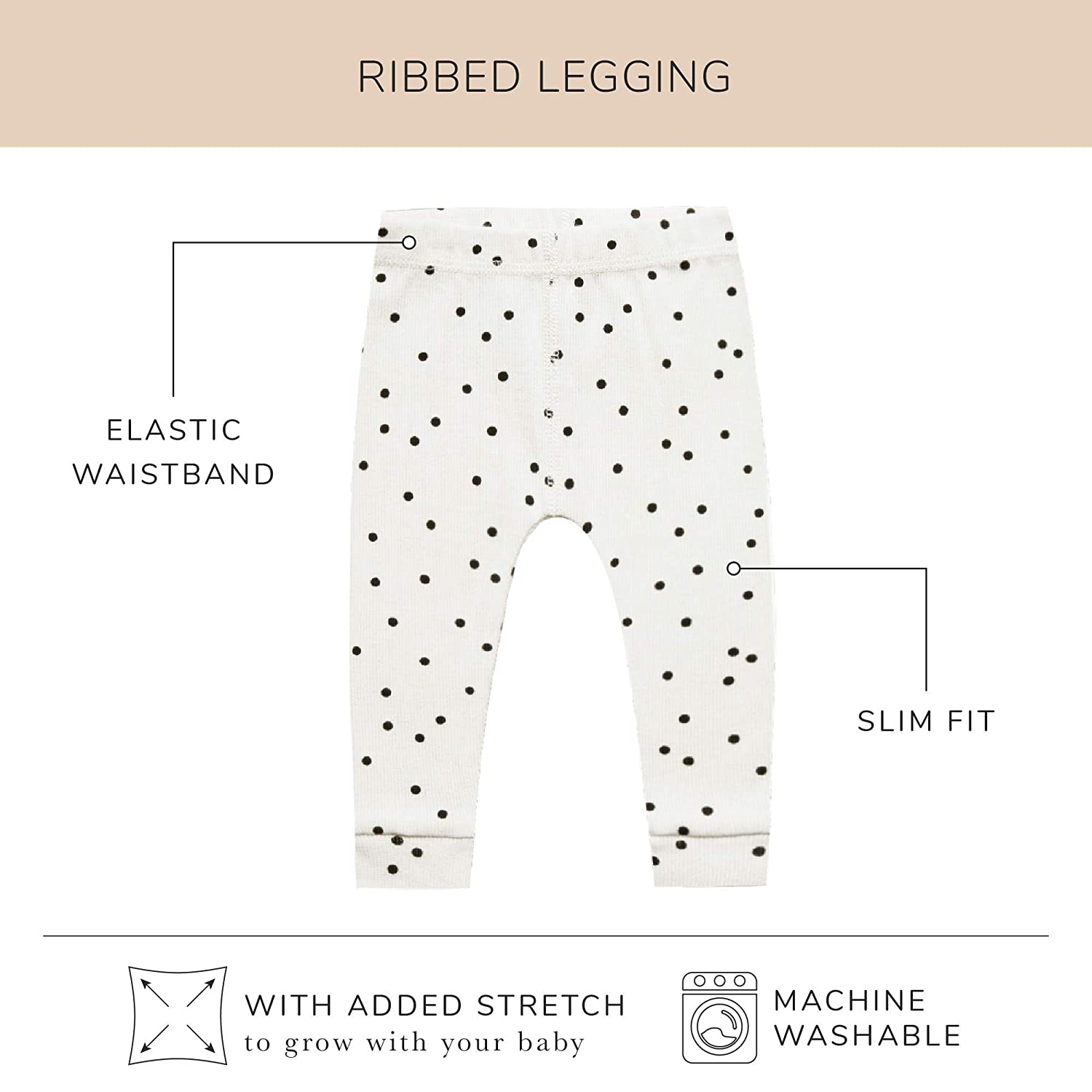 QUINCY MAE Pebble 6-12 Months Ribbed Legging