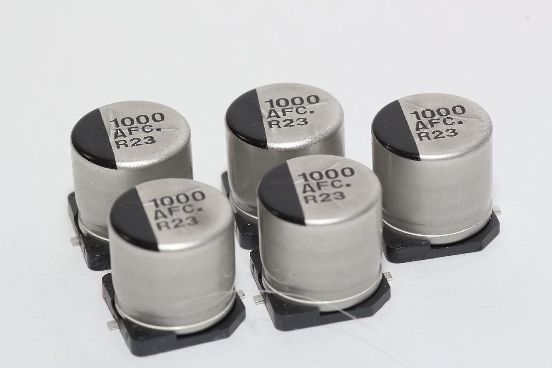 Panasonic Lot de 5/condensateurs /électrolytiques compacts /à tr/ès faible ESR 105//°