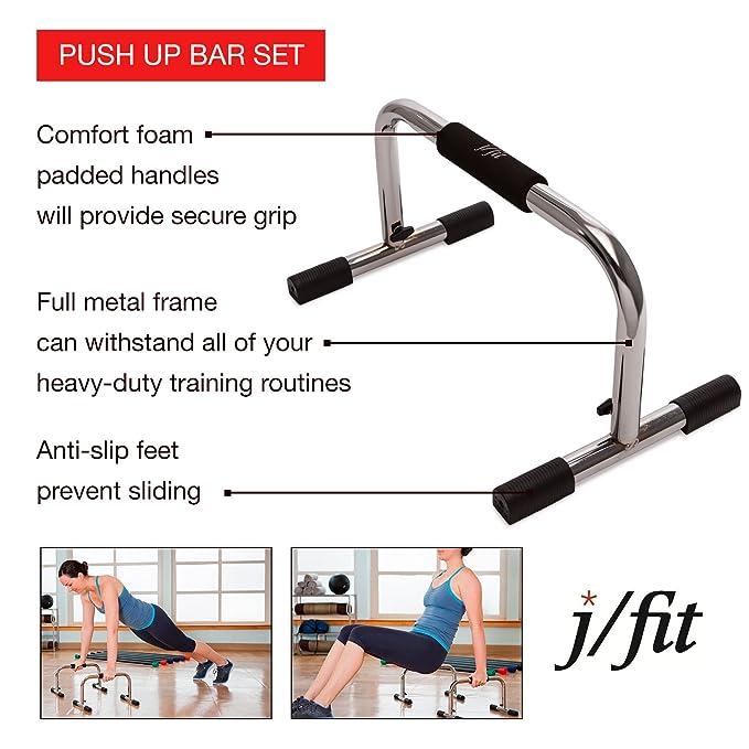 Lækker Amazon.com : j/fit Tall 9″ Pro Push Up Bar Stand | Durable Metal TZ-05