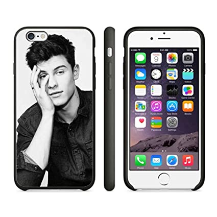 shawn-mendes-black-white-case-cover-your-iphone-6-case-and-iphone-6s-case-(-black-hard-plastic-) by happcases