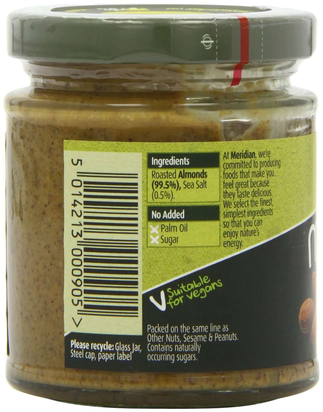 Amazon.com: Meridian - Natural Almond Butter Smooth With Salt 100% - 170g: Computers & Accessories