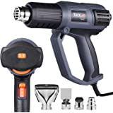 Heat Gun, Tacklife HGP74AC Electric Hot Air Gun 2000W 240V with Variable Temperature(50℃ -600 ℃), 3 Heat Settings and 9-Dial Precise Temperature