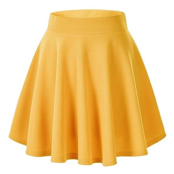 Gaatpot Falda Mujer Alto Cintura Corto Elástica Plisada Básica Falda Tutu  Multifuncional Patinador Minifalda  Amazon.es  Ropa y accesorios 90d3bbe7c894