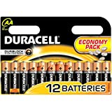 Duracell AA Economy Pack of 12, Duralock, Lr6, Mn1500 Long Lasting Alkaline Battery