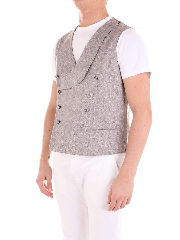 SEBASTIANO CODA Mens 14438277BEIGE Beige Wool Vest