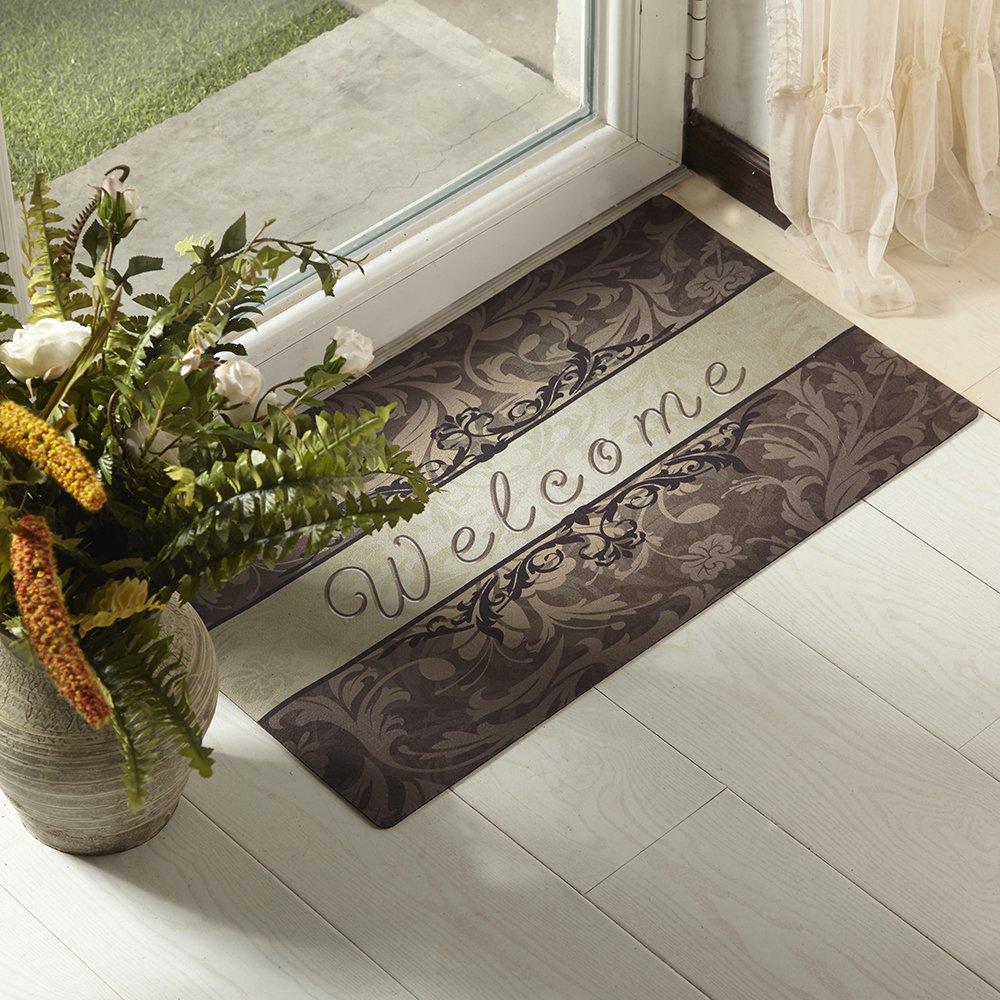 Amagabeli Rubber Indoor Welcome Mat For Front Door Entry
