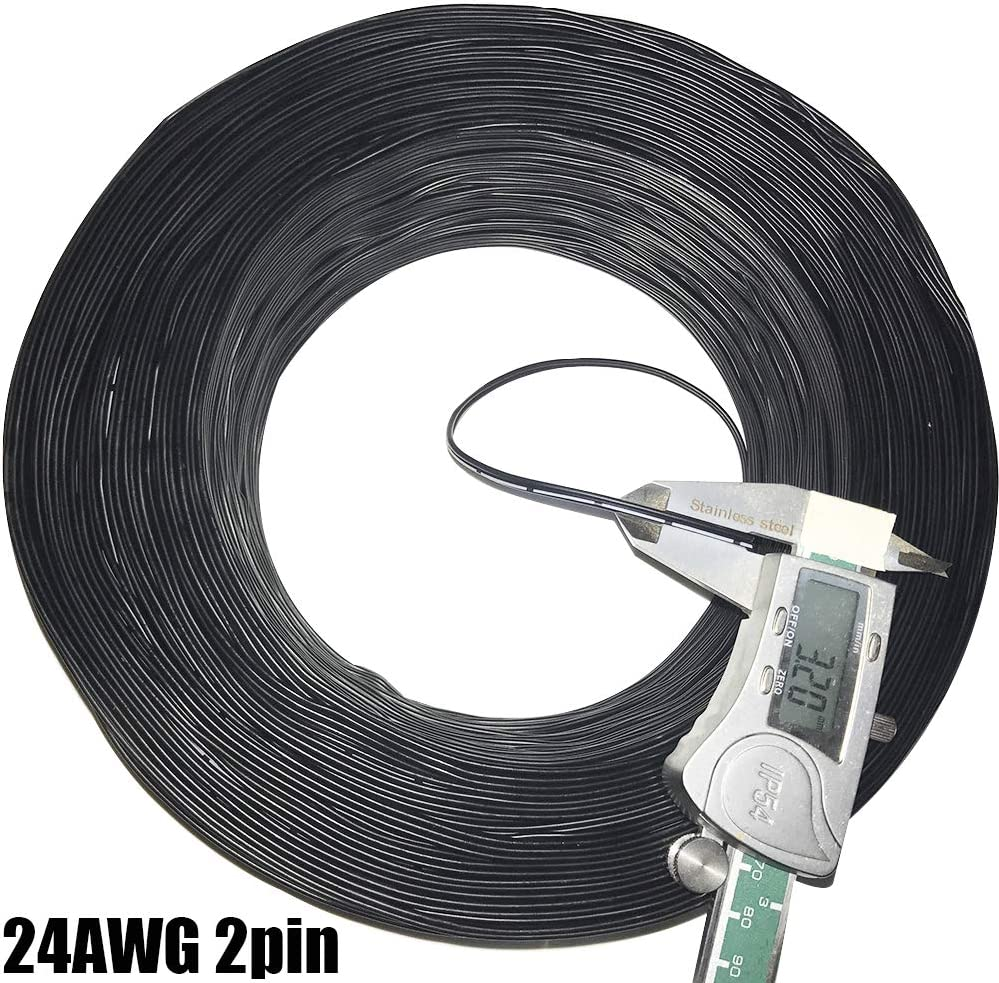 22AWG 24AWG 26AWG 28AWG 30AWG Printer Cable 2 Core Electrical Wire Tinned Copper Insulated 2 P Wire Black White Wire 2////5//10//20M 22AWG 2P 2m