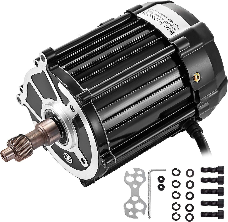 VEVOR Motor de Velocidad Diferencial Motor Eléctrico de Triciclo 48V-60V Motor Eléctrico 1500W Perfecto para Scooter Eléctrico, Bicicleta Eléctrica, Bicicleta Eléctrica y Scooter Electrónico Etc.