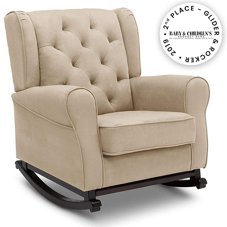 Tremendous Delta Children Emma Upholstered Rocking Chair Ecru Machost Co Dining Chair Design Ideas Machostcouk
