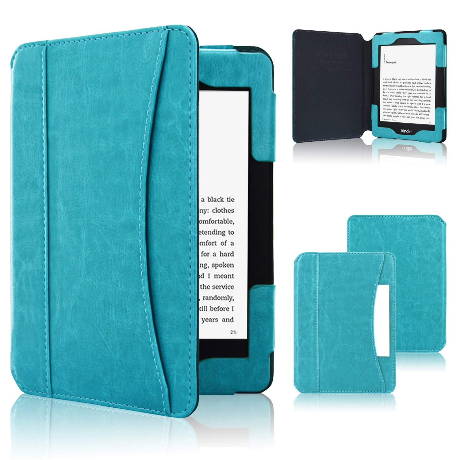 Kindle Paperwhite Case 2018, ACcolor Folio Smart Cover Leather Case with Auto Sleep Wake Feature for All and Old Kindle Paperwhite Models, Sky Blue