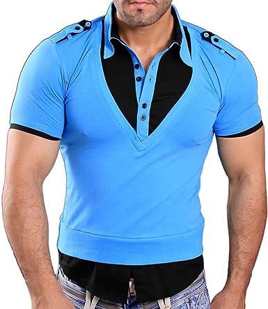 Rusty Neal manga corta – Camiseta de polo polo camisa Style turquesa/negro 3191 turquesa y negro medium: Amazon.es: Ropa y accesorios