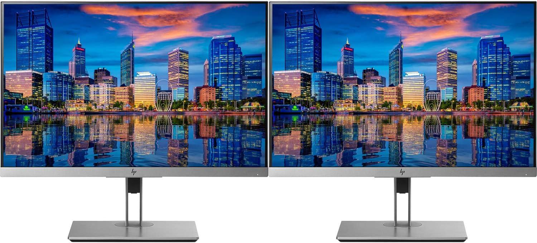 HP EliteDisplay E243i 24 Inch Screen LED Backlit 2-Pack Monitor (1FH47A8#ABA) Black and Silver