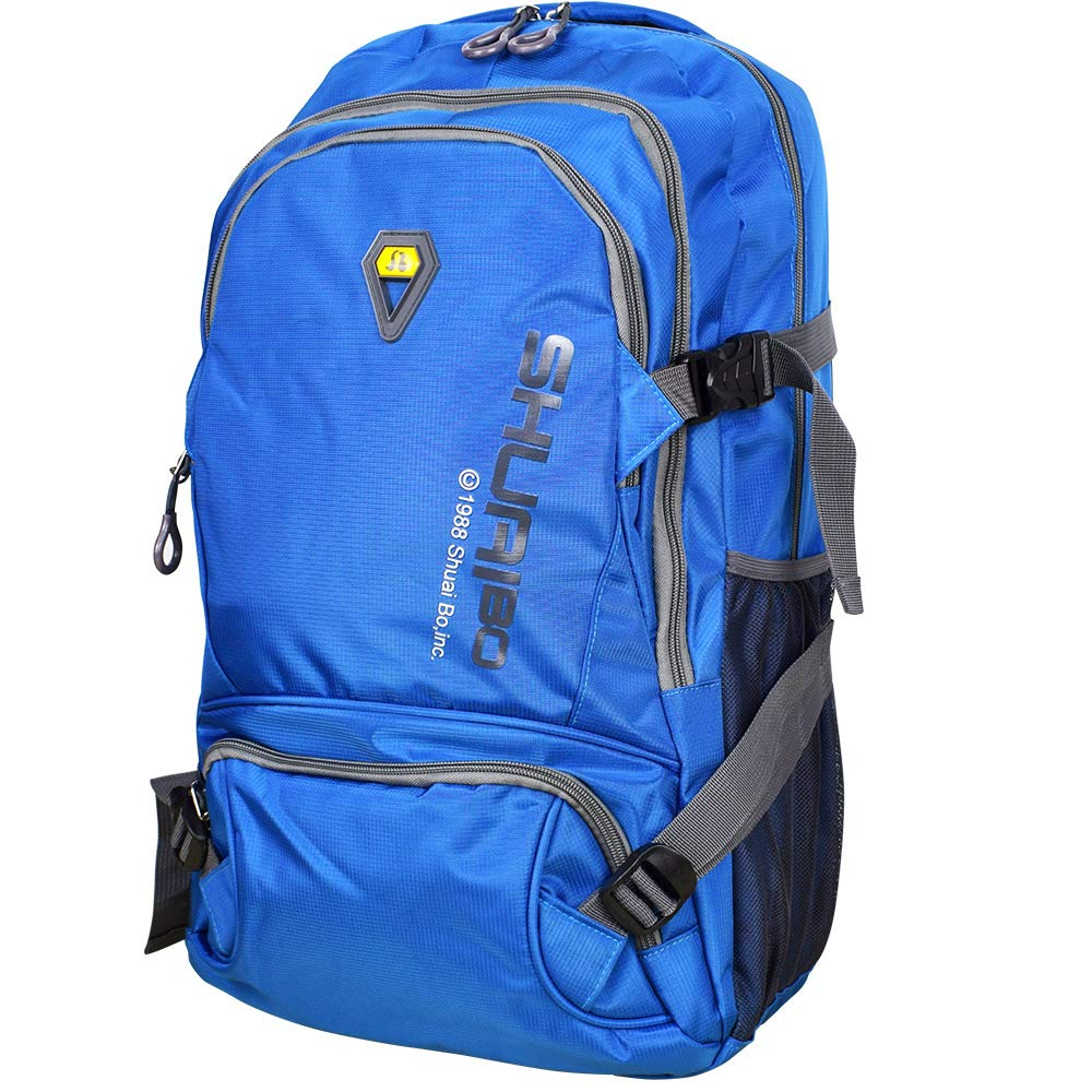 Large 35L Lightweight Water Resistant Travel Backpack Hiking Daypack Macbook laptop bag (Blue)