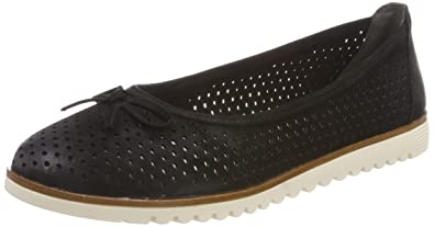 Tamaris 1 1 22121 22 Women Classic Ballerinas,Flats,Summer Shoe,Elegant,Bow tie,Leisure,Touch IT