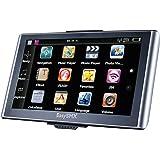 EasySMX 739 GPS Navigator 7 Zoll TFT LCD Touchscreen Vorgeladene Karten Musik / Film Player Mehrsprachig Kompatibel mit Windows XP(Schwarz + Silber)