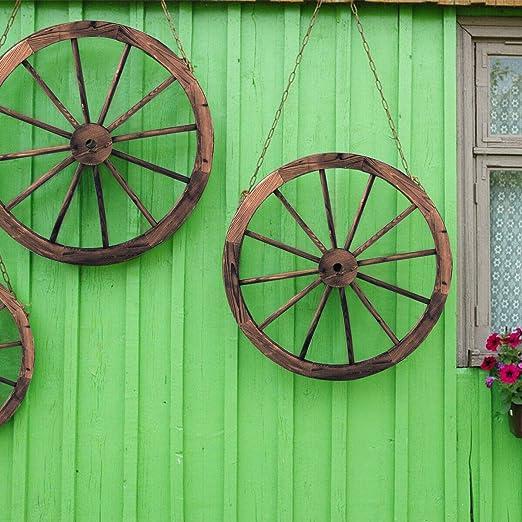 Giantex - Juego de dos ruedas decorativas de madera de 30 pulgadas ...