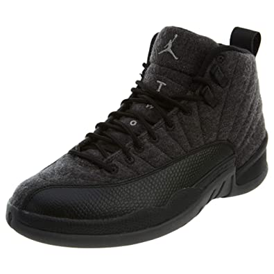 d50efb2a19cb65 Jordan Men s Retro 12 quot Wool Dark Grey Metallic Silver ...