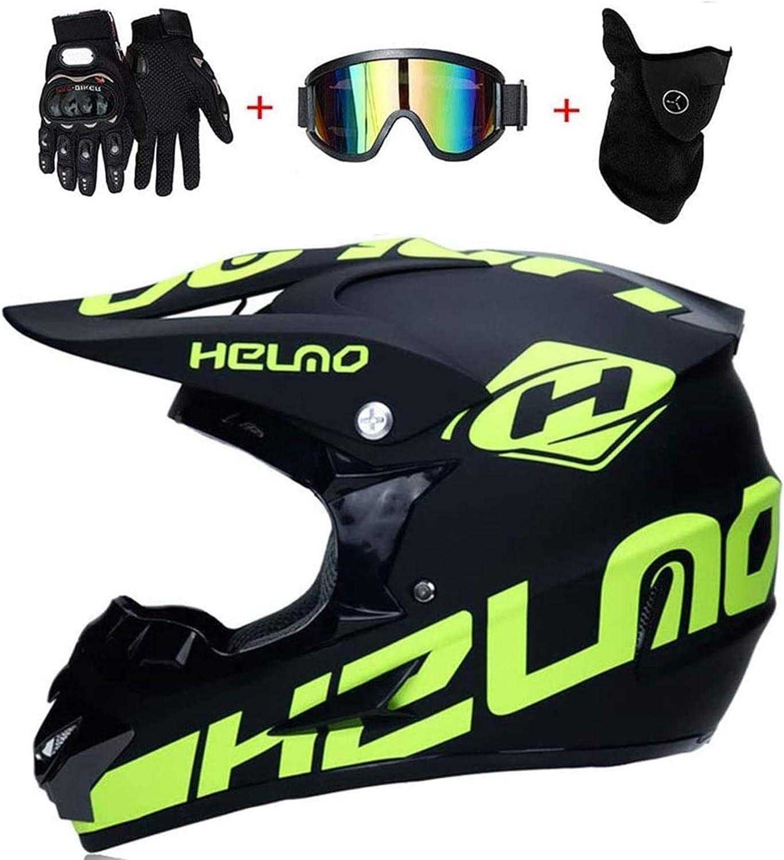 f/ür Kinder und Erwachsene L 58cm-59cm SYANO Motocross Helm D.O.T Standard Downhill Helme Motorrad Crosshelme /& Endurohelme mit Handschuhe Maske Brille