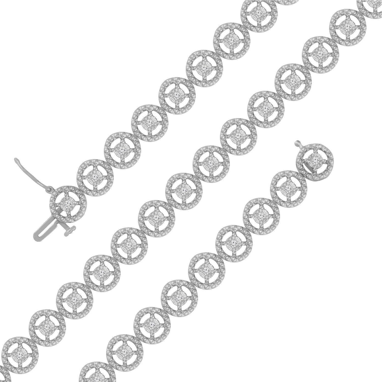 Sterling Silver Rose-Cut Diamond Eternity Wheel Bracelet (0.50 cttw, I-J Color, I3 Clarity) by Original Classics (Image #3)