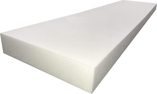 High Density Foam Base Seat Replacement Chair Cushion Square Foam Foamma 2 x 24 x 72 Cooling Gel-Infused Memory Foam Cushion Medium Firm Dining Chairs Wheelchair Cushion Replacement Padding