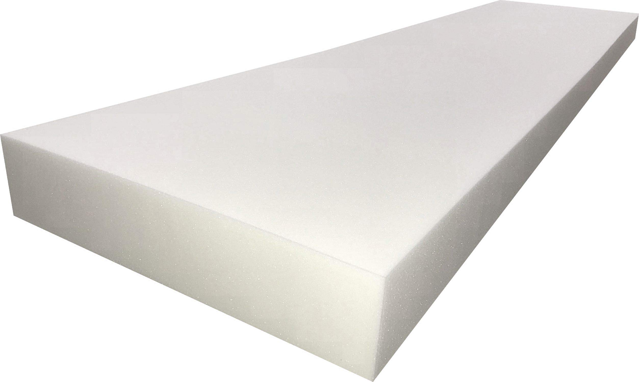 FoamTouch Upholstery Cushion Medium Density Standard(Seat Replacement, Sheet, Foam Padding), 3'' L x 24'' W x 72'' H by FoamTouch