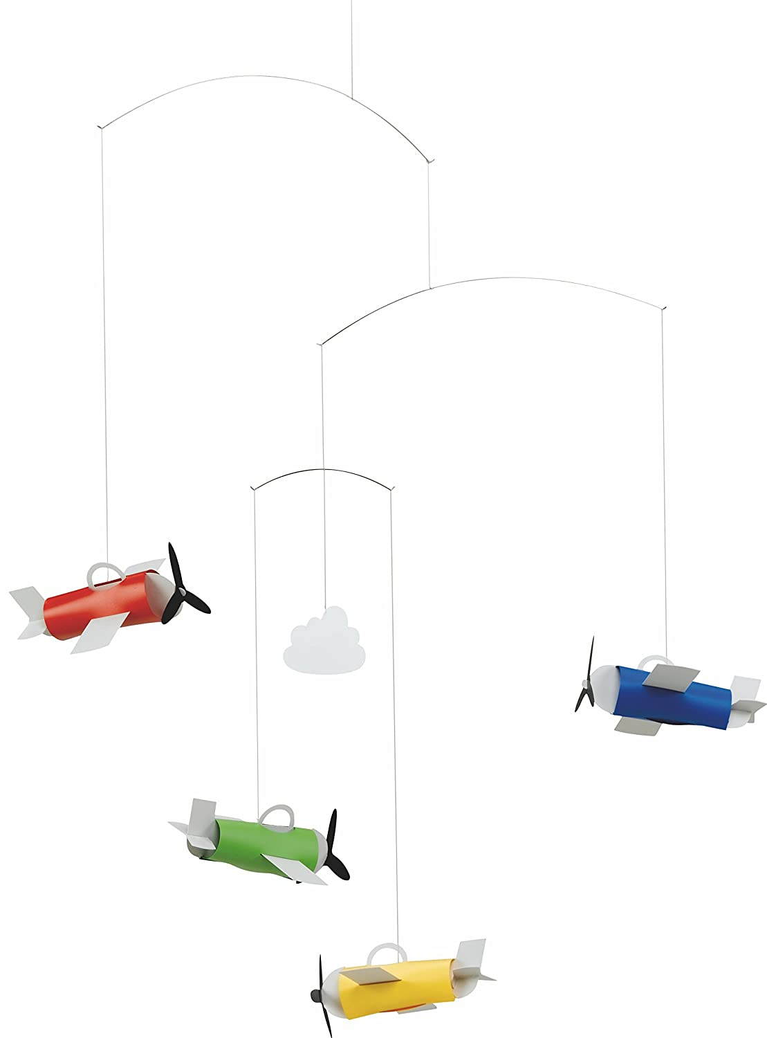 Flensted Mobiles Aero Hanging Nursery Mobile - 24 Inches Plastic f30102