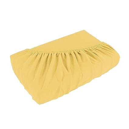 Sábana bajera ajustable de gran calidad Jersey para colchones con o sin muelles, funda de colchón - 4 tamaños y 25 colores - Algodón 100% - ca. ...