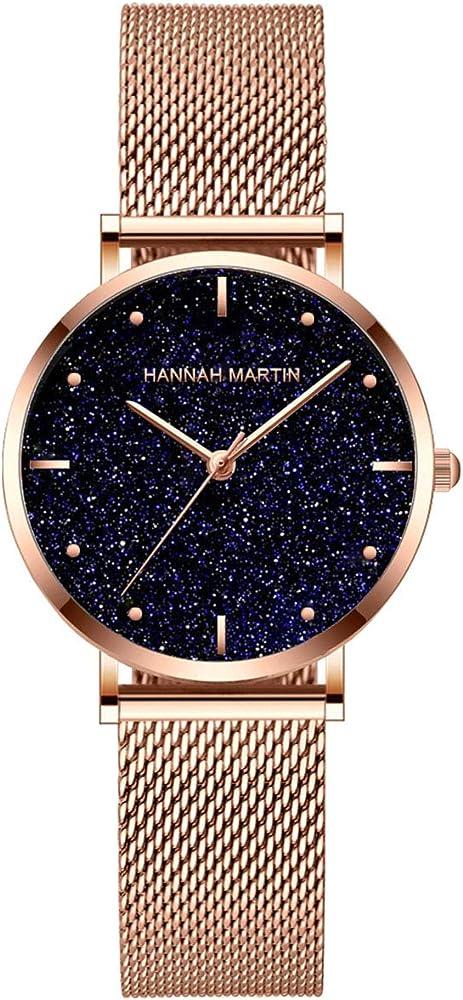 Hanna Martin - Reloj de Cuarzo para Mujer, Resistente al Agua ...