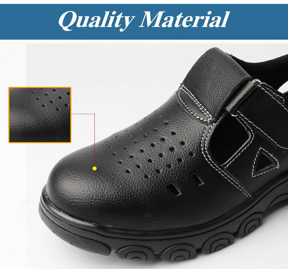 Men Anti-elactric Air Mesh Steel Toe Cap Work Safety Shoes Breathable Working Boots Puncture Proof Protective Footwear by PlainTown (Image #4)